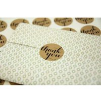 Wholesale 12PCS quot Thank You quot Seals Kraft Handmade Paper Sticker Labels Seal Favours Toppers Gift Cupcake Party