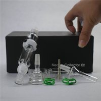 accessories types - 3 color Nectar Collector Kits Mini mm Joint Full Kit with Accessories Titanium Nails For Wax Dry Herb