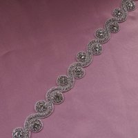 Wholesale Vintage Crystal Bridal Sash Belt Handmade Rhinestone Beaded Belt For Wedding Dress Women Waistband New Arrival