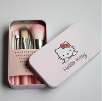 Wholesale Hello Kitty Makeup Brushes Tools A Sets Make Up Brushes Full Cosmetic Brush Eyeshadow Lip Face Powder Brush