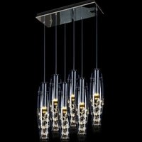 Wholesale new led chandeliers glass chandelier head restaurant lamp contemporary and contracted lamp crystal droplight creative droplight