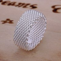 Wholesale Fashion Women s Silver Plated Wire Band Rings Jewelry Size