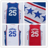 ben factory - 2016 new style Ben SIMMONS in white shirts blue jerseys Red Tops all logos stitched with good making Factory Outlet Cheap Sale