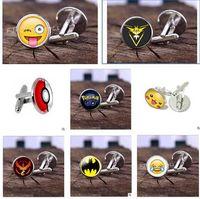 Wholesale Poke Halder Cuff Links Batman Cufflinks Women Men Fashion Cuff Links Cartoon Novelty Cufflinks Metal Jewelry Cuff Links Christmas Gifts