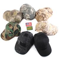 Wholesale Men Women Unisex Causal Baseball Cap Camouflage Sun Hat Adjustable Outdoor Camping Hiking Cycling Cap Sports Running Caps