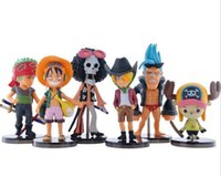 Wholesale Anime Animation One Piece Luffy Zoro Action Figures PVC Figures Collection Model Q Version Toys