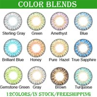 box packing box - 3 tone colored contacts fresh color blends lenses with packing boxes colors free DHL shipping ready stock
