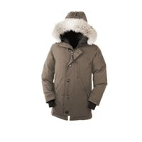 arctic winter coats - Mens Chateau Parka Winter Thick Warm Long Coat Outdoor Windproof Coyote Fur Ruff Fur Collar Hooded Arctic Expedition Parka