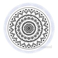 australian material - 59 inch Large Round Beach Towel for Summer Australian Style Circle Beach Towel Cotton Material with White Tassels