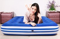 Wholesale 2 sizes colchoneta camping air bed mattress in honeycomb structure d cellular with home electric pump and pillows