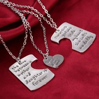 best anniversary gift - 3Pcs Set Mother s Day Best Gift There Is Girl Who Stole My Heart The Love Between Mother Daughter Letter Necklace Family Jewelry