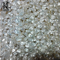 beaded clean - natural mm freshwater pearl Keshi pearl loose strands three color optional Basic clean surface direct manufacturers factory price