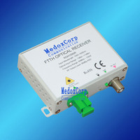 Wholesale FTTH CATV OPTICAL RECEIVER FTTH Way output CATV AGC receiver Fiber to CATV Media Converter