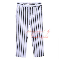 Wholesale 2016 Cutestyles Hot Sale Striped Full Length Pants For Boys With Zipper Fly And Adjustable Tightness Kid Clothing Trousers PT90319 L