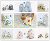 Fabric Food Folding Canvas Drawstring Bags Christmas Gifts Bags Home and Kitchen house storage organization decorations makeup cosmetic bags travel Doggy bag