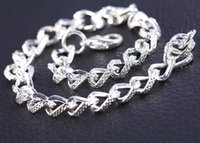 Wholesale Brand New mm Factory Sales Hot Sale Lowest Price Lady Bracelet Men s Fashion Sterling Silver Plated cm
