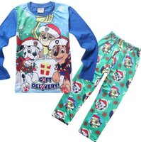 Wholesale spring and autumn period and the leisure wear Christmas Christmas boy pajamas pyjamas children clothing