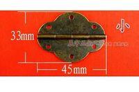 antique door hinges - D072 antique oval door hinges wine small hardware fittings box dedicated hinge