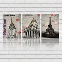 big picture china - Pieces unframed art picture Canvas Prints New York London building Eiffel Tower flower tulips Great Wall of China Big Ben