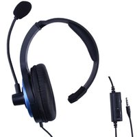 live chat - Wired Gaming Live Chat Headset Headphone With Boom Microphone For PS4 Controller