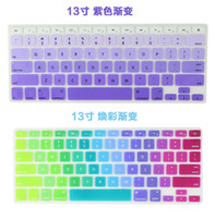 Wholesale Retail Silicone Keyboard Protector Skin Cover For Macbook Pro Air Mac Retina Keyboard Covers inch