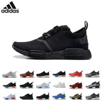 beige flats women - 2016 Adidas NMD R1 Monochrome Mesh Triple White Black Men Women Running Shoes Sneakers Originals Fashion NMD Runner Primeknit Casual Shoes
