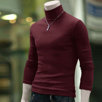 Wholesale New Arrival Solid Sweater Men Casual Knitted Sweaters Mens Turtleneck Long sleeve Pullovers Men