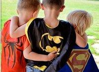 Wholesale DHL styles Double layers woderwoman Capes mask set cape mask set for Kids CM
