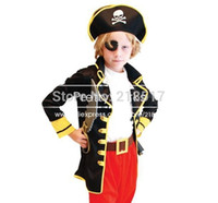 Wholesale Halloween Party Supplies Pirate Capain Jack Cosplay Boy Clothing Halloween Costume for Kids Children Christmas Costumes
