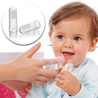 Wholesale Soft Silicone Safe Baby Kids Finger Toothbrush Gum Brush For Clear Massage