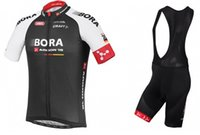Wholesale tour de france bora argon pro team black ropa ciclismo cycling jersey shirt and bib shorts Cycling Clothing maillot