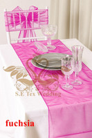 Wholesale Fuchsia Color Organza Table Runner For Wedding Decoration Good Looking