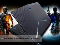 Wholesale KH Laptop Special Carbon Crocodile Snake D Crocodile Leather Cover Sticker Skin Protector For DELL Alienware M17X R5 R6 version