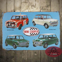 Wholesale CLASSIC Mini car COLLECTION Plate Chic Sign Home Bar Pub Cafe Restaurant Decor Gift B