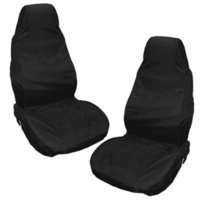 Wholesale HEAVY DUTY FRONT SEAT COVERS UNIVERSAL CAR VAN BLACK DUSTPROOF WATERPROOF PROTECTORS MUDDY AND WATER