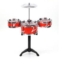 Wholesale Red Blue Kids Toys Drum Kit Set Of Toy Music Hand Knocking Percussion Instruments Kid Jazz Beating Drum