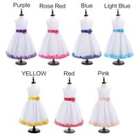 american choice - 2016 Top Quality Girl Sleeveless Flower Wedding Formal Princess Bridesmaid Party Dress colors For Choice Girls Dress Up Evening Party