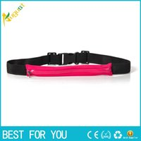 Wholesale Slim Running Cell Phone Chest Waist Fanny Bag Sports Running Bag Hot Sale Soft Money Belt Body Wallet new hot