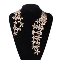 Wholesale 2016 New fashion personality ladies women diamond collar silver plated necklaces popular new
