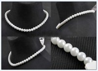 artificial necklaces - Hot Sell New Charming New mm White Artificial pearl beads Necklace Woman Pearl Necklace