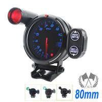 Wholesale 3 quot mm DEFI Tachometer STEPPER MOTOR BF BLUE LED RPM GAUGE WITH PEAK AND WARNING AUTO GAUGE