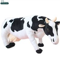 baby doll milk - Dorimytrader cm Lovely Emulational Milk Cow Toy Plush Soft Stuffed Big Animal Cow Doll Nice Baby Present DY60982