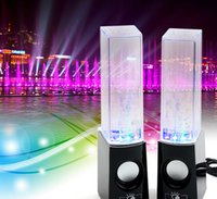 aes usb - Dancing Water Speaker Active Portable Mini USB LED Light Speaker For iphone ipad PC MP3 MP4 PSP subwoofer water column audio