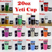 Wholesale Yeti Cooler Cups oz YETI Rambler Tumbler Travel Vehicle Beer Mug Double Wall Bilayer Vacuum Insulated Stainless Steel