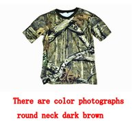 Wholesale hunting clothes T shirt short sleeve cotton shirt d jungle Camouflage fishing clothes outdoor sports short sleeve
