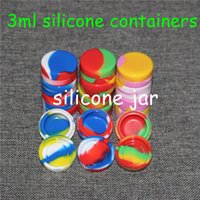 air tight food container - 100pcs ml Air Tight Odorless Medical Silicone Jar Herb Stash Container Oil Container Silcone Container Jars Dab Silicone Wax Container