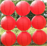 Wholesale 2016 Express Lanterns CM Paper Lanterns for Wedding Decorations Ads promotion Lanterns DIY Paper Lanterns with many colors