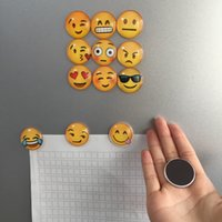 Wholesale Newest Expressions Emoji Fridge Magnet Cartoon Crystal Glass Fridge Magnets Decor Funny Refrigerator Decoration Accessories