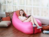 Wholesale Inflatable Outdoor Pads Air Sleep Sofa Couch Portable Furniture Sleeping bag Hangout Lounger Inflate Air Bed