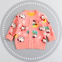 Wholesale 2016 Spring Autumn Children Clothing Outerwear Baby Boys Girls Cartoon Winter Sweater Baby Cardigan Sweater Years